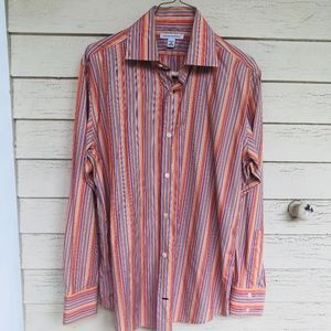 BANANA REPUBLIC striped cotton dress shirt